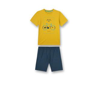 SANETTA Boys pajamas short yellow biker lifestyle