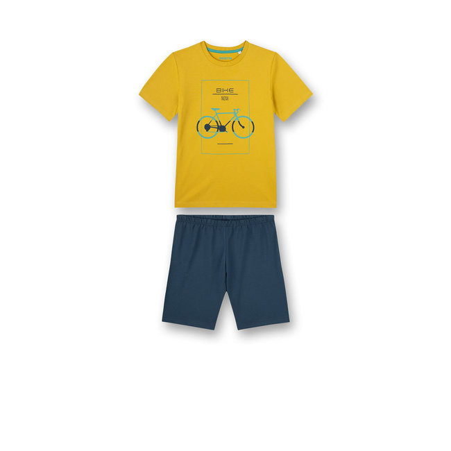 SANETTA Boys pajamas short yellow biker lifestyle