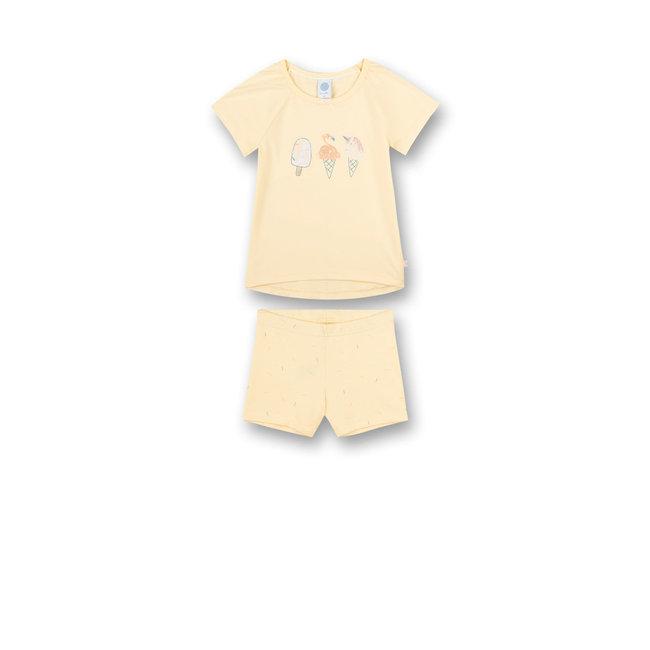 SANETTA Girls' pajamas yellow Sweet Summer