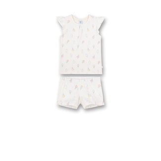 SANETTA Girls' pajamas short Off-White Sweet Summer