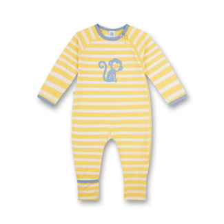 SANETTA Yellow monkey boy jumpsuit