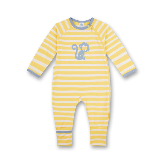 SANETTA Yellow monkey boy jumpsuit