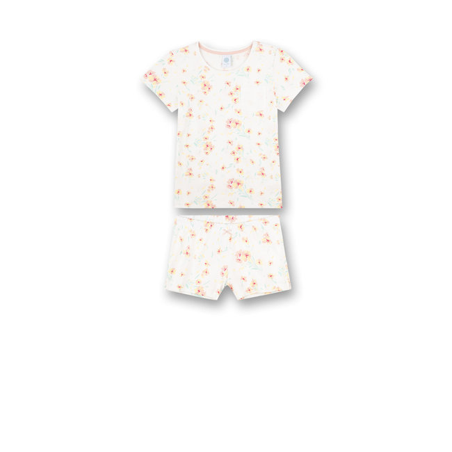 SANETTA Girls' pajamas short Off-White Japanese Summer