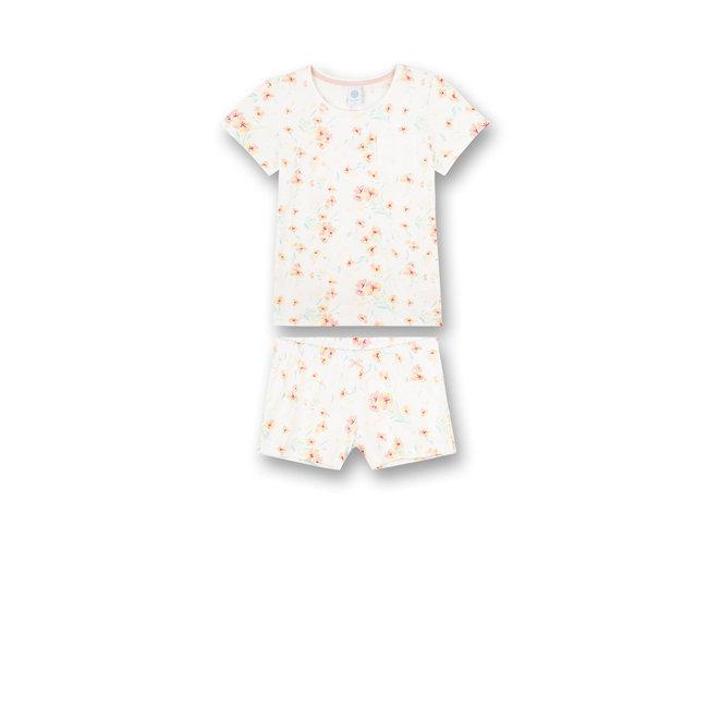 SANETTA Girls' pajamas short Off-White Japanese Summer