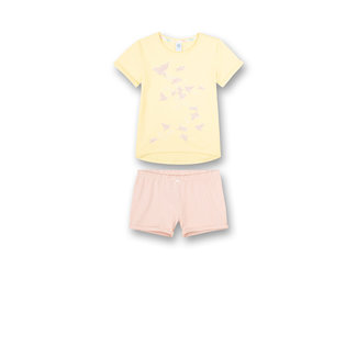 SANETTA Girls' pajamas short yellow Japanese Summer