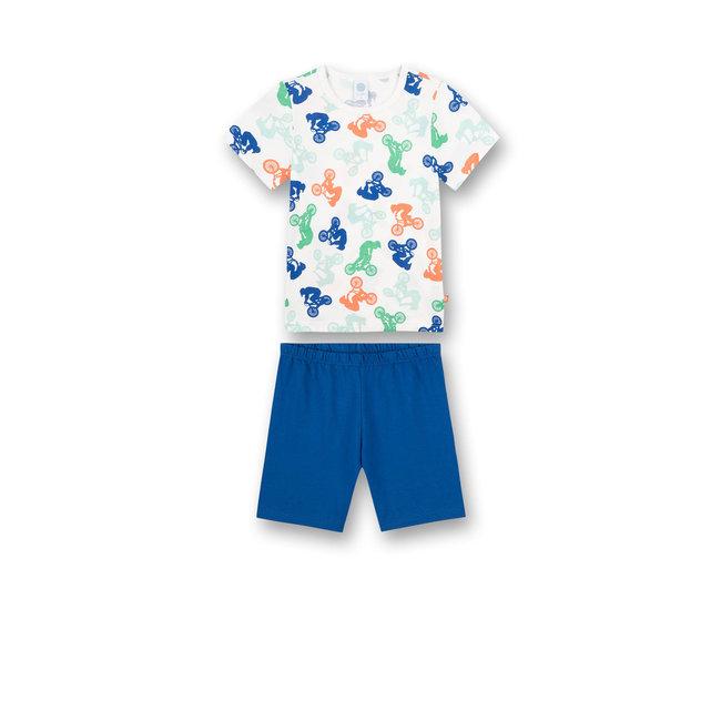 SANETTA Boys pajamas short off-white