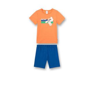 SANETTA Boys pajamas short orange BMX