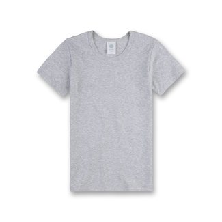 SANETTA Boys' white undershirt with half sleeves