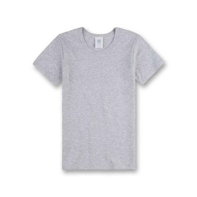 SANETTA Boys' white undershirt with half sleeves