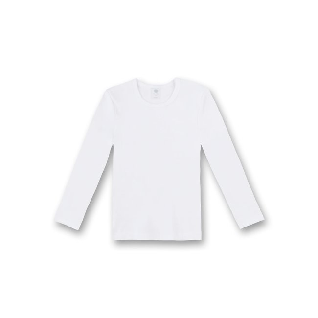 SANETTA Boys' white undershirt long sleeves