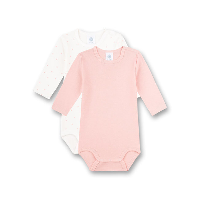 SANETTA Long-sleeved body (double pack) pink and white