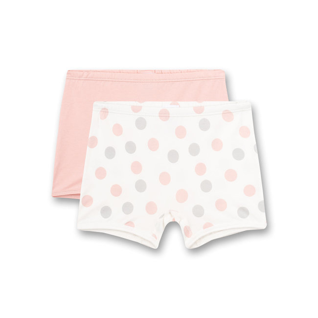 SANETTA Girls shorts (double pack) dots allover and pink