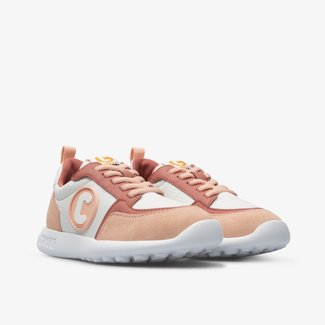 CAMPER Driftie pink sneaker with laces for kids