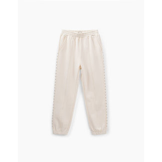 IKKS GIRLS' ECRU JOGGERS WITH STUDDED SIDE BANDS