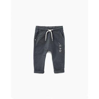IKKS Baby boys' faded black organic harem trousers