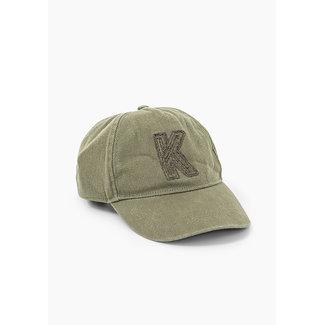 IKKS GIRLS' BRONZE EMBROIDERED K PATCH CAP