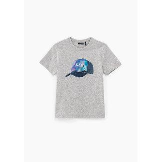 IKKS BOYS' MEDIUM GREY MARL LENTICULAR CAP T-SHIRT