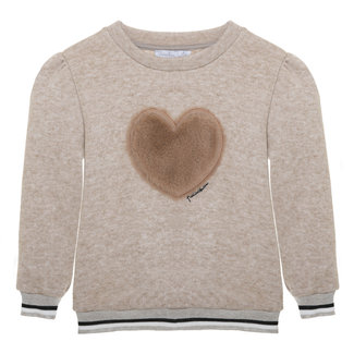 PATACHOU Girl Camel Beige Knit Sweater