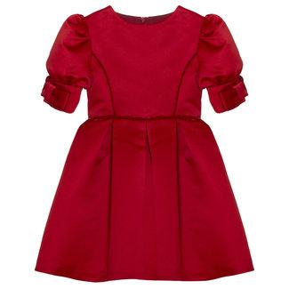 PATACHOU Party Girl Royal Red Satin Dress