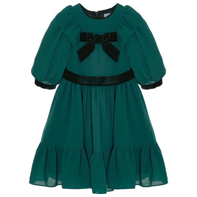 PATACHOU Party Girl Emerald Green Chiffon Dress