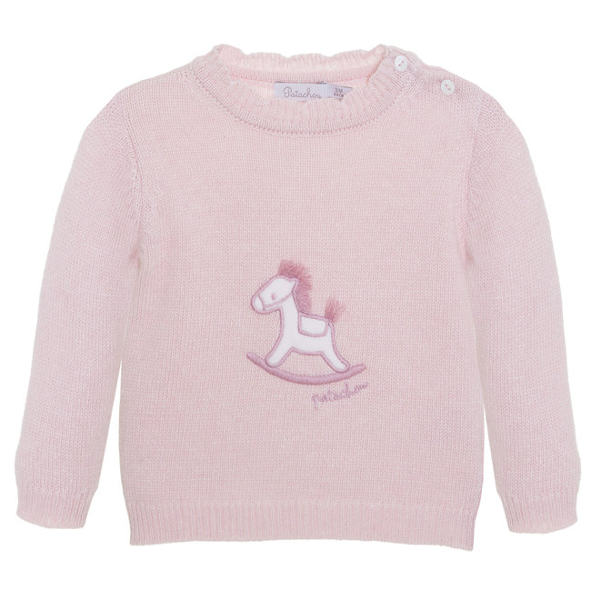 PATACHOU Newborn Knit Pink Sweater