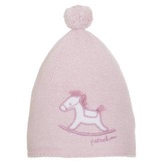 PATACHOU Newborn Knit Pink Hat