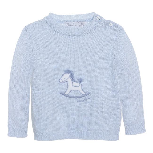 PATACHOU Newborn Knit Blue Sweater