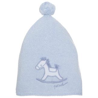 PATACHOU Newborn Knit Blue Hat