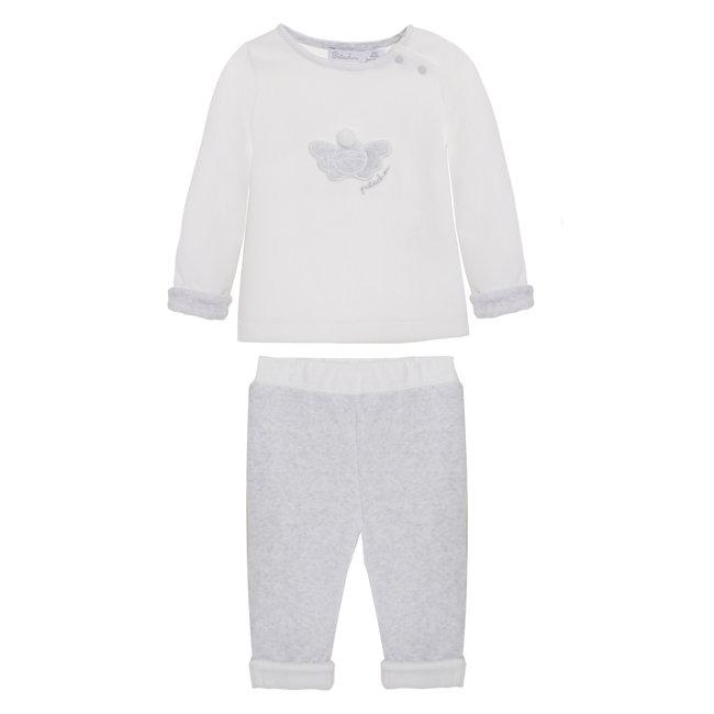 PATACHOU Newborn Grey Melange Grey Set