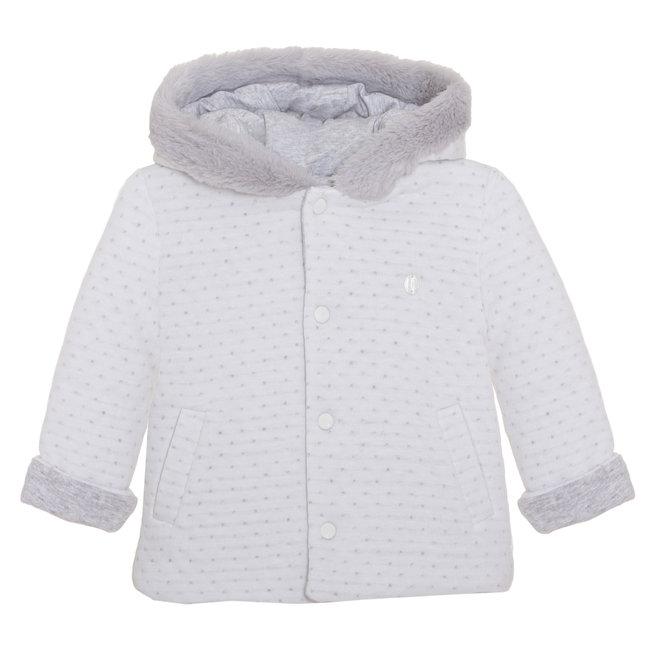 PATACHOU Newborn Grey Double Jersey Grey Coat