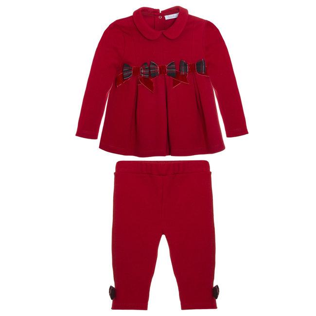 PATACHOU Mini Girl Tartan Red Interlock Set