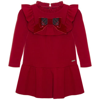 PATACHOU Mini Girl Tartan Red Interlock Dress