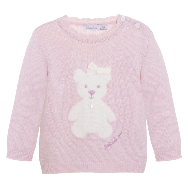 PATACHOU Mini Girl Pale Pink Pink Sweater