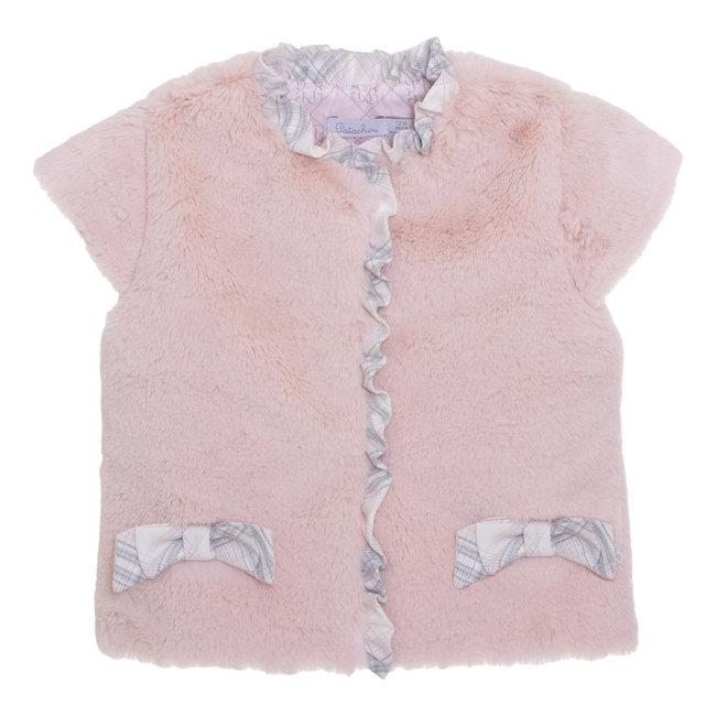 PATACHOU Mini Girl Pale Pink Pink Fur Vest