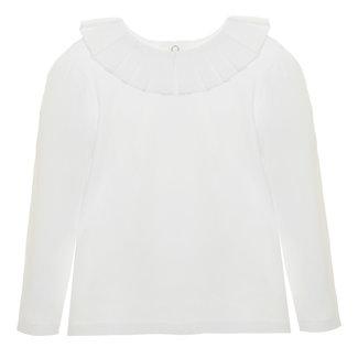 PATACHOU Girl Tartan White Jersey T-Shirt