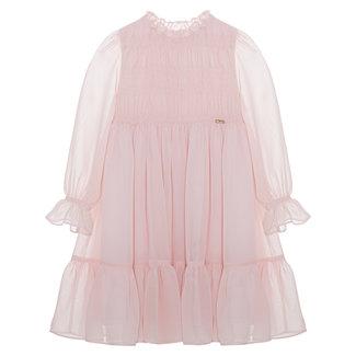 PATACHOU Girl Pink Pale Pink Chiffon Dress