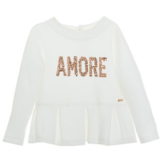 PATACHOU Girl Ivory Off White T-Shirt