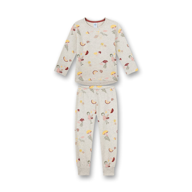 SANETTA Girls pajamas beige melange Back to Nature