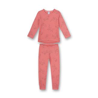 SANETTA Girls' pajamas Pink Fancy Cat