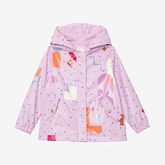 CATIMINI Girl signature purple raincoat