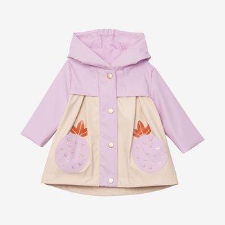 CATIMINI Baby girlsignature purple raincoat