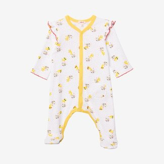 CATIMINI Baby girl printed footie pajama yellow