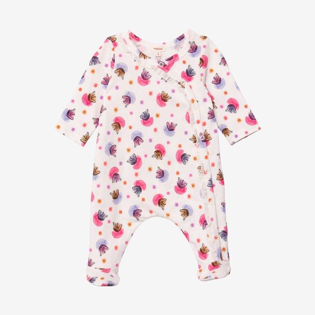 CATIMINI Baby girl printed footie pajama pink