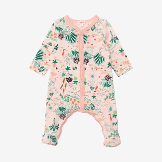 CATIMINI Baby girl printed footie pajama