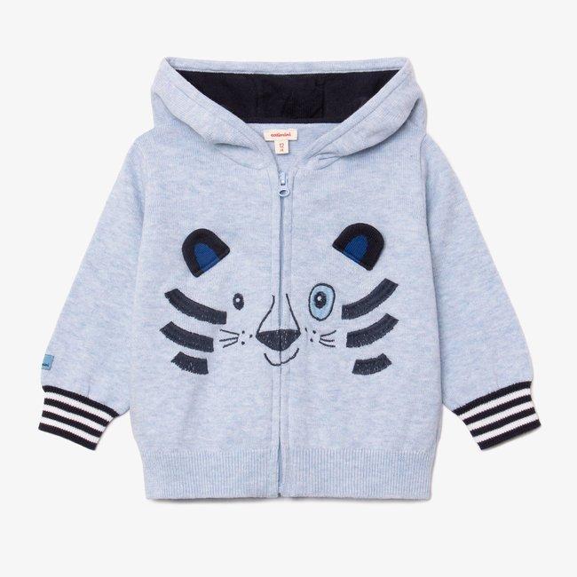 CATIMINI Baby boy tiger zipped hooded cardigan
