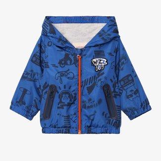 CATIMINI Baby boy printed blue windbreaker