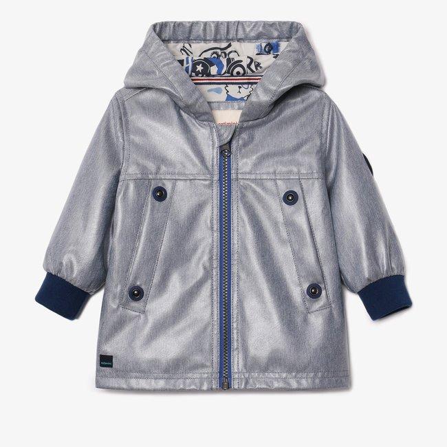CATIMINI Baby boy indigo raincoat