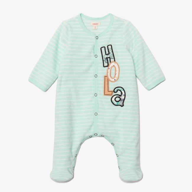 CATIMINI Baby boy green footie pajamas