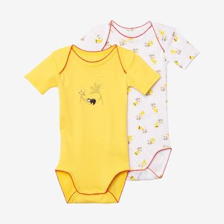 CATIMINI 2-pack baby girl yellow bodysuits