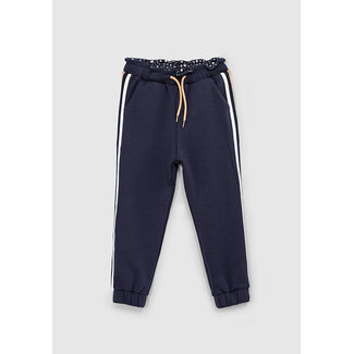 IKKS GIRLS' NAVY SPORT LAB JOGGERS WITH SIDE BANDS
